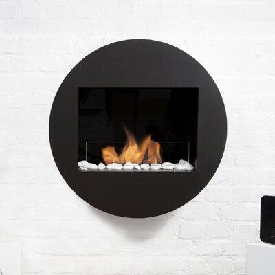 Qwara Ventless Wall Mounted Bio-Ethanol Fireplace Finish: Black BBUSA-QWA-B