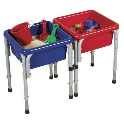 ECR4Kids Active Play 2 Station Square Sand and Water Table with Lids ELR-12401
