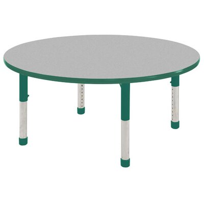 9 Piece Round Activity Table & Chair Set Color: Gray and Red, Leg Type: Toddler Leg with Ball Glide, Chair Height: 12