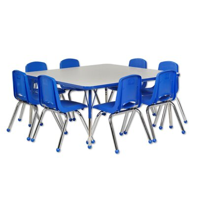 Ecr4Kids Square Table and Chairs - Leg Type: Toddler Leg with Swivel Glide, Color: Oak and Black at Sears.com