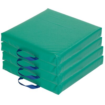 Softzone Square Carry Me Cushion (Set of 4) Color: Green