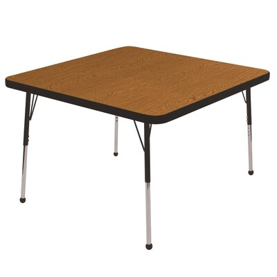 5 Piece Square Activity Table & Chair Set Top Finish: Gray, Side Finish: Blue, Leg Type: Chunky Leg with Ball Glide