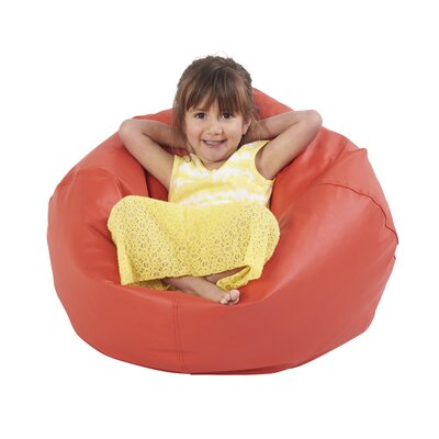 Junior Bean Bag Chair Upholstery: Red
