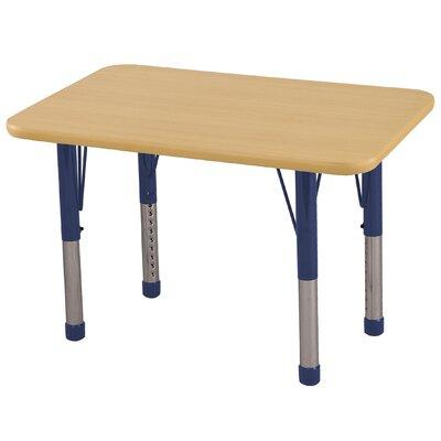 """ECR4Kids� 36"""" x 24"""" Rectangular Activity Table Side Finish: Navy, Leg Type: Chunky Leg ELR-14106-MMNV-C"""
