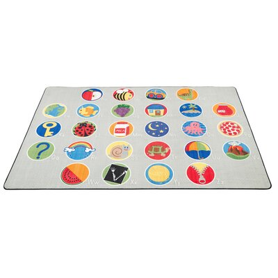 A-Z Activity Seating Gray Area Rug Size: 9 x 12