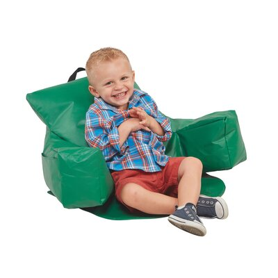 Relax-N-Read Bean Bag Chair Upholstery: Green