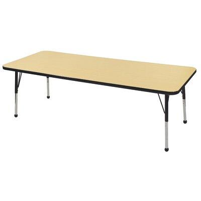 """ECR4Kids� 72"""" x 30"""" Rectangular Activity Table Side Finish: Navy, Leg Type: Chunky Leg ELR-14112-MMNV-C"""