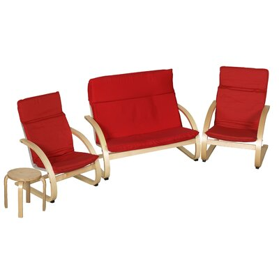 ECR4Kids Kids 4 Piece Table & Chair Set ELR-0368