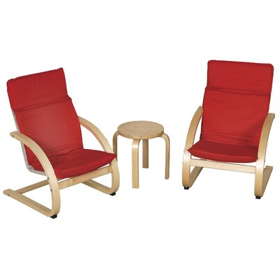 ECR4Kids 3 Piece Kids Table & Chair Set ELR-0344