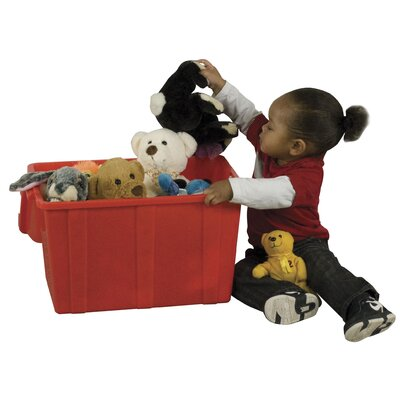 Ecr4Kids Play Treasure Toy Box - Size: Set of 12, Finish: Red at Sears.com