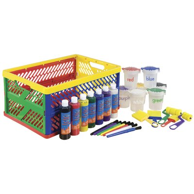 ECR4Kids 27 Piece Paint Set in Large Storage Crate ELR-0207