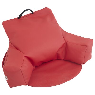 Relax-N-Read Bean Bag Chair Upholstery: Red