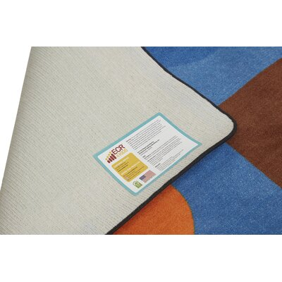 Lots of Shapes Blue Area Rug Rug Size: Rectangle 6 x 9