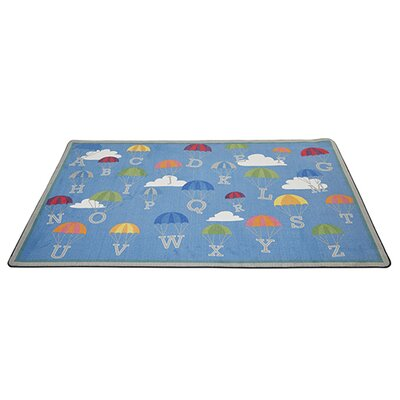 P Is for Parachute Blue Area Rug Rug Size: 9 x 12