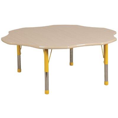 "60"" x 60"" Novelty Activity Table Side Finish: Navy, Leg Type: Chunky Leg ELR-14102-MMNV-C"