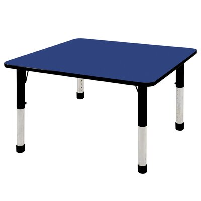 """Ecr4Kids 48"""" Square Adjustable Activity Table - Table Top Color: Blue, Leg Style: Toddler height leg with nylon swivel glides at Sears.com"""