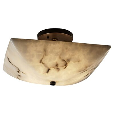 Keyon 2-Light Semi Flush Mount Finish: Antique Brass