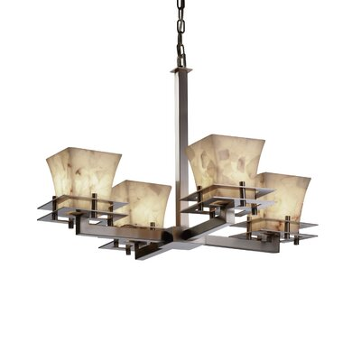 Conovan 4-Light Shaded Chandelier Base Finish: Brushed Nickel