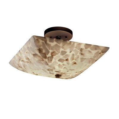 Conovan 2-Light Semi Flush Mount Finish: Antique Brass