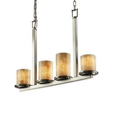 Conovan 4-Light Drum Pendant Metal Finish: Matte Black
