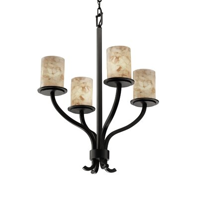 Conovan 4-Light Drum Chandelier Metal Finish: Brushed Nickel