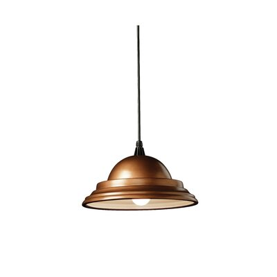 Radiance 1 Light Pendant Finish: Antique Copper, Cord Option: Black Cord