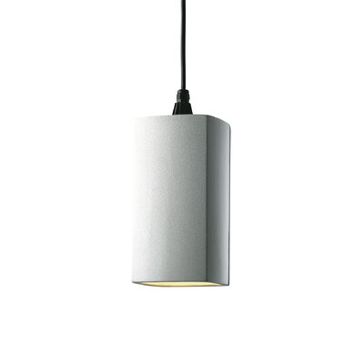 Radiance 1 Light Pendant Finish: Matte White, Cord Option: Black Cord, With Perfs?: No