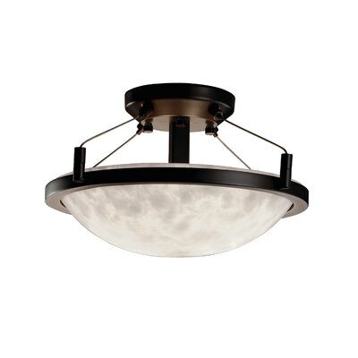 Winslow Clouds Round Semi Flush Mount Finish: Matte Black