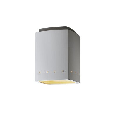 Radiance Rectangular Flush Mount Finish: White Crackle