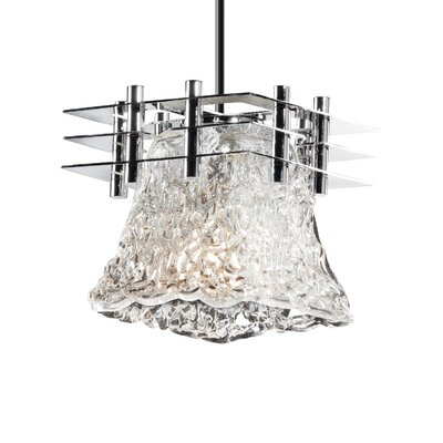 Kelli 1-Light Mini Pendant Base Finish: Brushed Nickel