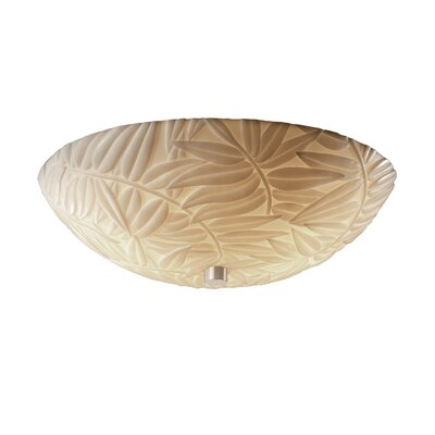 Salaam Leaf Impression 3-Light Flush Mount Finish: Antique Brass