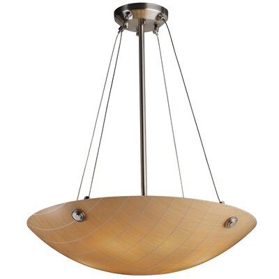 3form 6 Light Bowl Pendant Base Finish: Dark Bronze, Bulb Type: 65W LED (Included), Shade Finish: Ribbon Twirl