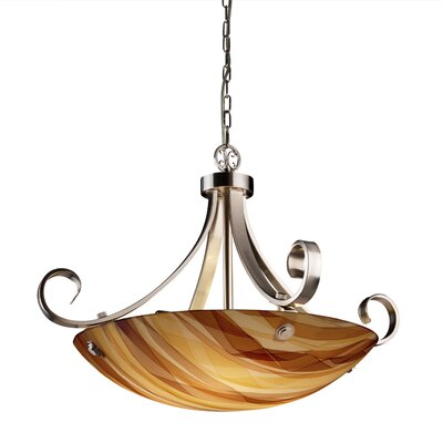3form 6 Light Bowl Pendant Base Finish: Dark Bronze, Bulb Type: 18W CFL (Not Included), Shade Finish: Take