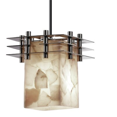 Alabaster Rocks 1 Light Mini Pendant Base Finish: Matte Black
