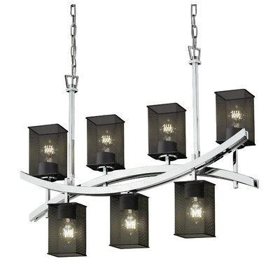 Bennett 7-Light Kitchen Island Pendant Finish: Matte Black
