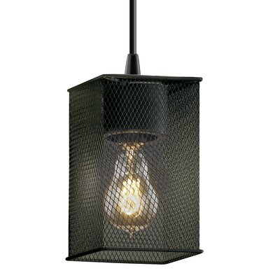 Bennett 1-Light Mini Pendant Finish: Dark Bronze