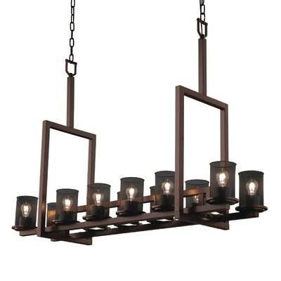 Bennett 12-Light Kitchen Island Pendant Finish: Dark Bronze