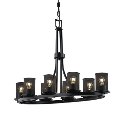 Bennett 8-Light Drum Chandelier Finish: Dark Bronze