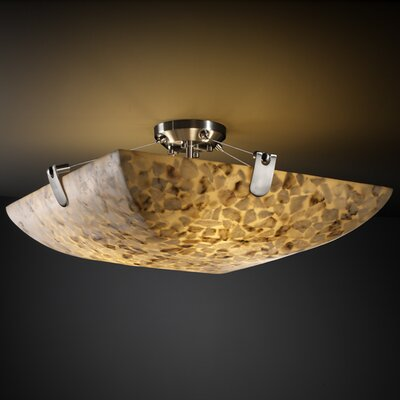Conovan 3-Light Semi Flush Mount Finish: Brushed Nickel