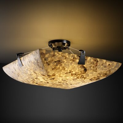 Conovan 6-Light Semi Flush Mount Finish: Dark Bronze