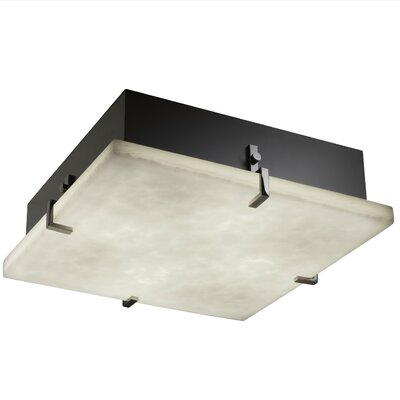 Genaro 2-Lights Clips Square Flush Mount Finish: Matte Black