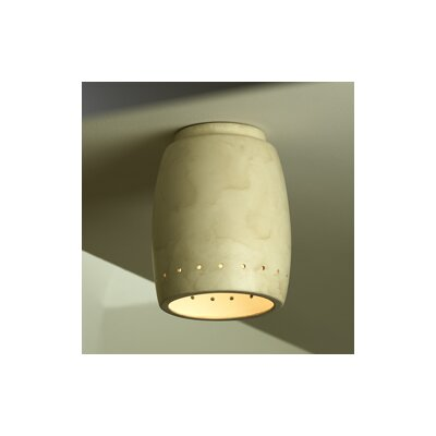 Radiance Cylinder Flush Mount Finish: Antique Patina
