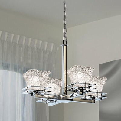 Kelli 4-Light Shaded Chandelier Base Finish: Polished Chrome