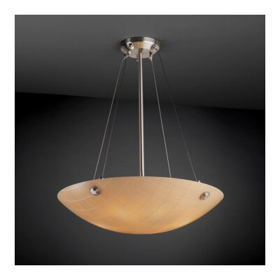 Thora 3-Light Waves Metal Semi Flush Mount Finish: Brushed Nickel