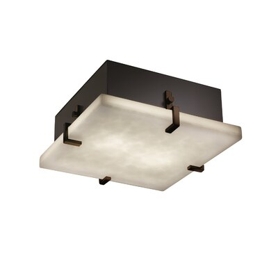 Genaro 2-Lights Clips Square Flush Mount Finish: Dark Bronze