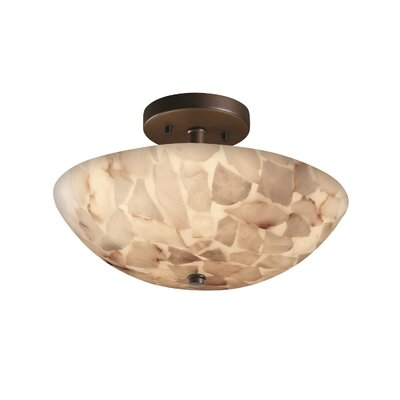 Conovan 2-Light Semi Flush Mount Finish: Dark Bronze