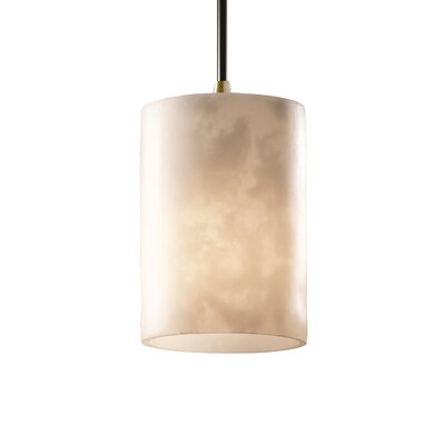 Jacinto 1-Light Mini Pendant Finish: Antique Brass