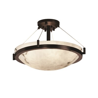 Keyon 3-Light Semi Flush Mount Finish: Dark Bronze