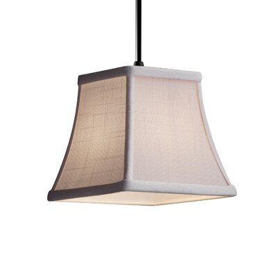 Textile 1-Light Mini Pendant Finish: Matte Black, Shade Color: White