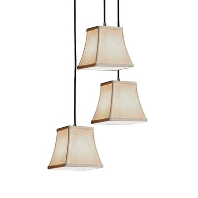 Textile 3-Light Pendant Finish: Polished Chrome, Shade Color: Cream